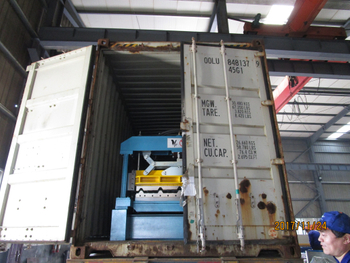 Two containers for Metal roof roll forming machine to Egypt - Date 11.24, 2017